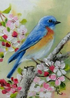 Easy Watercolor Paintings for Beginners Pretty Birds, Beautiful Birds, Watercolor Bird, Watercolor Paintings, Bird Drawings, Bird Pictures, Painting Inspiration, Painting & Drawing, Canvas Art