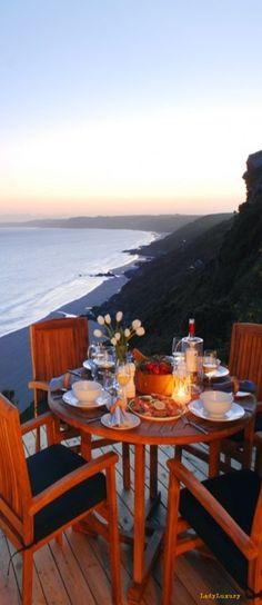 Luxury Beach Homes | LadyLuxuryDesigns Outdoor Tables, Outdoor Spaces, Outdoor Living, Outdoor Decor, Waterfront Cottage, Wine Food, Beach Bungalows, Beach Homes, Coastal Living