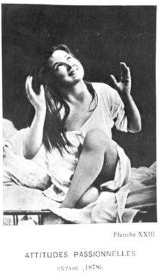 Passionate Attitudes: Augustine in ecstasy, from 'Iconographie de la Salpetriere' by Desire Magloire Bourneville & Paul Regnard 1878