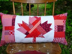 I swear on a stack of Anne Rice novels that I did not plan this. But it just so happens I have a Canadian Flag pillow to share with you, jus...