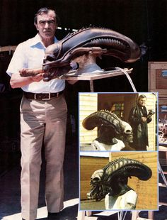 Carlo Rambaldi (#Alien) -- H.R. Giger was the designer (the one with the black coat)