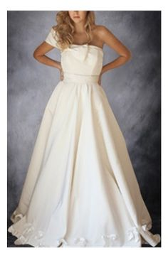 [Two In One Wedding Dress]One Shoulder Wedding Gown With Bow Detail: from ceremony to reception seamlessly.