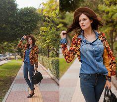 Breakicetrends Blazer, Breakicetrends Jeans, Breakicetrends Loafers, Zara Bag, Zara Hat, Stradivarius Denim Shirt