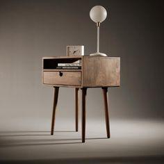"""Walnut bedside table nightstand #bedside #bedsidetable #wood #wooden #woodworking #decor #design #decoration #deco #interior #interiordesign #furniture…"""