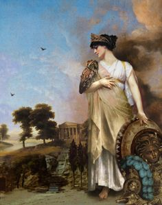 Athena is the Greek goddess of wisdom, courage, inspiration, civilization, law and justice, just warfare, mathematics, strength, strategy, the arts, crafts, and skill.