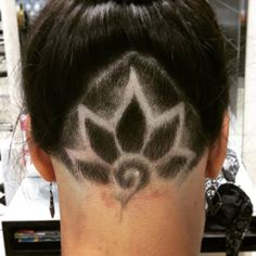 Flower designs Hair Tattoo only at MODA Fusion https://www.facebook.com/hairTattooingAndrzejEjmont/