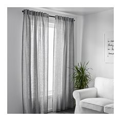 $59.99 AINA Curtains, (2 panels) - I like the light/airy look of these
