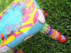 Custom Painted Foot Stool For Boys or Girls Nursery by elliesshop, $85.00
