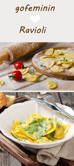 Make ravioli yourself? With these 4 delicious recipes, that& no problem at all! - Sooo delicious and really simple: make ravioli yourself, here are the instructions www. Chicken Pasta Recipes, Healthy Pasta Recipes, Noodle Recipes, Vegan Recipes, Cooking Recipes, Delicious Recipes, Sicilian Recipes, Greek Recipes, Retro Recipes