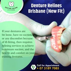 💯 Tip by Denture Square 💯 If your dentures are loose, do not wait, as ill fitting dentures can lead to a number of problems such as eating and speaking problems, not to mention the embarrassment of teeth moving around unnaturally. Also this can rub on the gum tissues causing sore spots. #denturereline #denturerelines #denture #dental #dentistry #dentures #dentist #denturebabe #denturesmile #denturecare #denturesquare #oralhealth #oralcare #denturesquarebrisbane #brisbane #brisbanedentist Dental Technician, Dental Group, Dentistry, Brisbane, Teeth, Number, Tooth, Dental