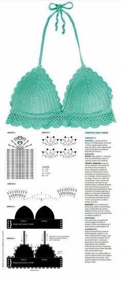 Crochet Bralette Crochet Top Crochet By - maallure Crochet Lingerie, Crochet Bra, Crochet Bikini Pattern, Mode Crochet, Crochet Halter Tops, Crochet Bikini Top, Crochet Woman, Crochet Blouse, Crochet Clothes