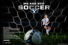 "BYU Women's Soccer Posters by Lindsay Thompson, via Behance  - MormonFavorites.com  ""I cannot believe how many LDS resources I found... It's about time someone thought of this!""   - MormonFavorites.com"