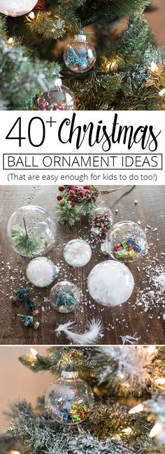 Create memories making your own ornaments with over 40 easy to make Christmas Ball Ornament Ideas! MichaelsMakers AKA Design