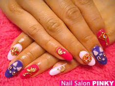 Image result for sailor moon nails Sailor Moon Nails, Kawaii Nails, Image