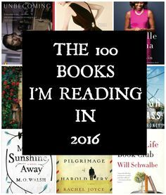 2016 reading list...it is good to have goals