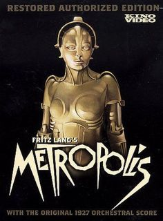 A striking publicity image for Fritz Lang's classic 1927 movie, Metropolis. One of the few surviving examples of the original poster design recently sold for auction at Christies for Metropolis Poster, Metropolis Fritz Lang, Metropolis 1927, Metropolis Robot, Beau Film, Classic Sci Fi, Classic Films, Arte Art Deco, Film Science Fiction