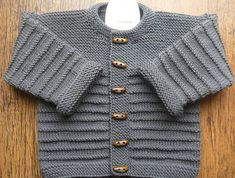 An All-Garter Central Panel - Diy Crafts - maallure Baby Cardigan Knitting Pattern Free, Baby Boy Knitting Patterns, Knitted Baby Cardigan, Baby Patterns, Hand Knitting, Big Knit Blanket, Creative Knitting, Big Knits, Baby Sweaters