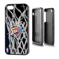 Oklahoma City Thunder iPhone 5  iPhone 5s Rugged Case officially licensed by the NBA for the Apple iPhone 55s by keyscaper Durable Two Layer Protection Shock Absorbing ** Find out more about the great product at the image link.