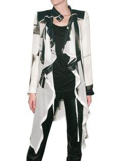 ANN DEMEULEMEESTER Printed Georgette Coat