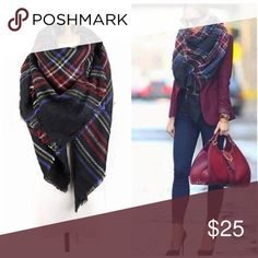 f77cf4be6998 Tartan blanket scarf Tartan blanket scarf. Big size can use as wrap. Nwot.  Price is firm. Bundle up for discount shipping Accessories Scarves   Wraps