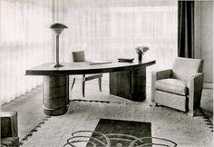 Arced desk. Jean Freyssinet, c1937 Paris.