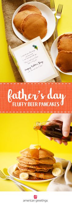 We can't think of a better way to celebrate Father's Day this year than with a delicious breakfast menu line up! These easy-to-make Fluffy Beer Pancakes look just as great as they taste. Complete this thoughtful gesture with a sentimental greeting card from Target to show the dads in your life just how much you appreciate them.