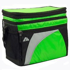 Pin it! :) Follow us :)) CLICK IMAGE TWICE for Pricing and Info :) SEE A LARGER SELECTION of camping coolers at   -  hunting, camping accessories, camping insulated bags, coolers, camping gear, camp supplies - 12 Can Cooler with Expandable Top- Green « zCamping.com