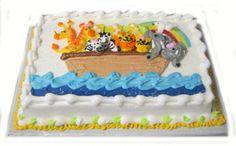Noah's Ark sheet cake