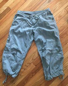 7ce8ded826 Details about Prana Capri Cropped Pants Cargo Women's Sz M Light Green  Hiking Yoga Workout