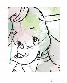 Posters: Walt Disney Poster Art Print - Dumbo, Drawing (20 x 16 inches) by 1art1, http://www.amazon.com/dp/B00CB4E0L8/ref=cm_sw_r_pi_dp_XR1Hsb0B35QW0
