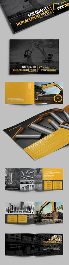 Interesting and Unusual Brochure Examples Strong, Graphic, Consistent, Strong Photography. Brochure Design Inspiration, Graphic Design Layouts, Layout Design, Print Design, Brochure Examples, Brochure Layout, Editorial Layout, Editorial Design, Pamphlet Design