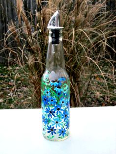 Dish Soap Dispenser  Recycled Clear Beer Bottle by GlassGaloreGal