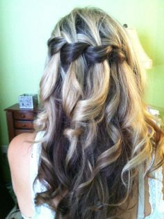A gorgeous waterfall braid I did!!