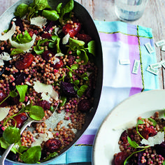 The tasty combination of chorizo and beetroot make this salad a simple dinner for four.