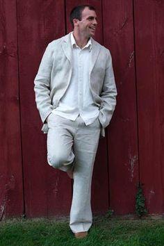 Hemp suit made in Vermont by Tara Lynn