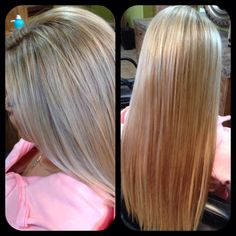Blonde highlights with base bump