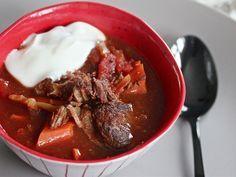 Slow-Cooker Harissa Beef Stew With Lemon Yogurt