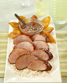 Low FODMAP Recipe and Gluten Free Recipe - Roasted pork fillet with chili jam http://www.ibssano.com/low_fodmap_recipe_pork_fillet.html