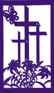 Cutwork Wall Hangings - Fashions by Sarah Lent Decorations For Church, Class Decoration, Church Banners Designs, Church Design, Religious Images, Religious Art, Cross Quilt, Felt Banner, Easter Banner