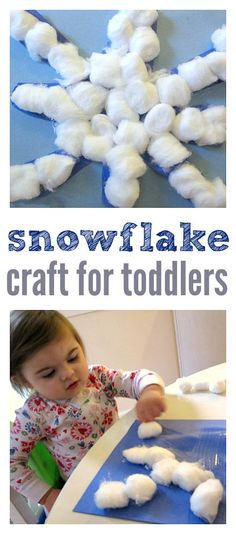 Awesome snowflake crafts for toddlers and kids.