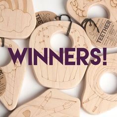 We wanted to share our brand new teethers and board games with the world and the best way to do that was to give them away free! So CONGRATULATIONS to our three giveaway winners!! Ice cream teether winner: @ktsummerszCupcake teether winner: @winney04 ABC board game winner: @opal.wears  Thanks to ALL who participated - keep on sharing your photos of your little ones with our toys every month for more chances to win $25 in shop credit. We appreciate your support of our #smallbusiness!