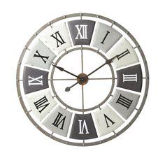 antiqued metal clock D Big Clocks, Large Clock, Antique Clocks, Antique Metal, Metal Clock, Credenza, Furniture Decor, Metallica, Antiques