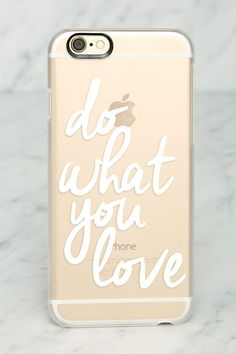 Casetify Do What You Love Clear iPhone 6 Case at Lulus.com!