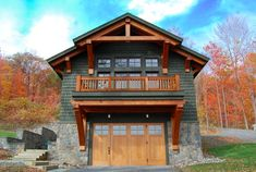 Timber Frame Homes Timber Frame Garage addition with living space