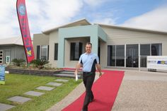 New Display Home Opening - NorthShore 2013 - David walking the red carpet.