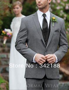dark grey jacket pant/black vest tie/italian men SUIT/cheap WESTERN new STYLE WEDDING GROOM TUXEDO/GROOMSMEN DRESS/man for Suits US $114.99
