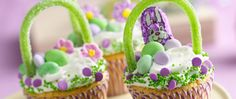 Gather the kids and make sweet, edible Easter baskets!  - Betty Crocker