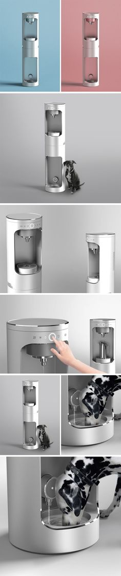 Hydration for Humans and Friends Industrial Design Furniture, Industrial Design Sketch, Furniture Design, Domestic Appliances, Water Efficiency, Drinking Fountain, Double Shot, Medical Design, Composition Design