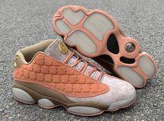 """b18bd54fcbd9b4 CLOT x Air Jordan 13 Low """"Terracotta Warrior"""" Sepia Stone Canteen-Terra  Blush AT3102-200"""