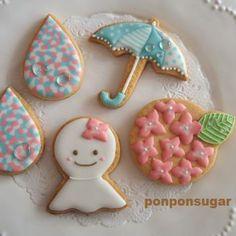 2015年6月 1dayレッスン -  #アイシングクッキー #クッキー #sugarcookie #icingcookie #てるてる坊主 #あじさい…